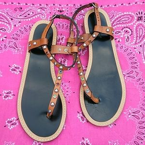 Real leather sandals.